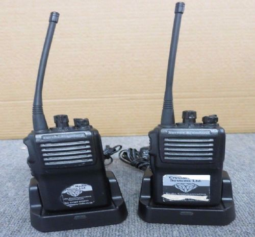 3 x Vertex Standard VX-231-G6-5 16 Channel Two Way Radio with Charging Cradles
